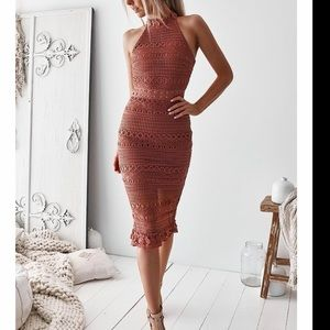 Midi Mauve dress